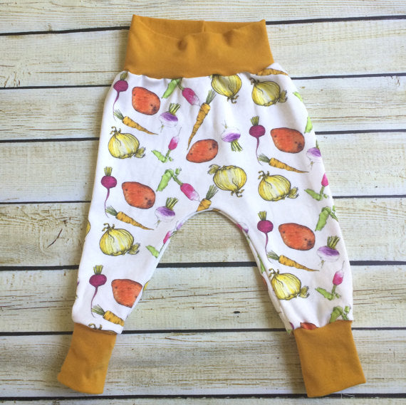 Garden Medley Organic Knit Pants - Little Green Bird