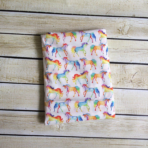 Rainbow Unicorns Organic Swaddle Blanket - Little Green Bird
