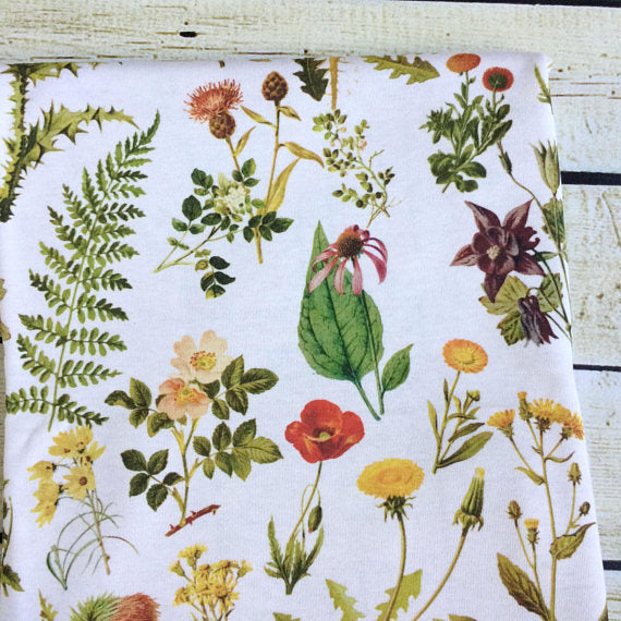 Vintage Botanicals Organic Swaddle Blanket - Little Green Bird