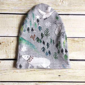 Arctic Song Slouchy Beanie - Little Green Bird