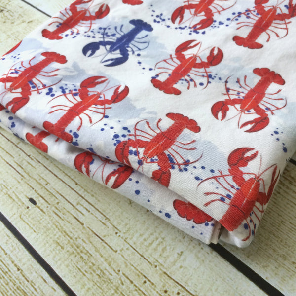 You're My Lobster Organic Swaddle Blanket - Little Green Bird