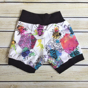 Save the Bees Organic Knit Shorts - Little Green Bird