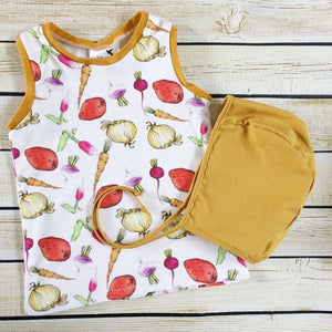 Garden Medley Organic Tank Top - Little Green Bird