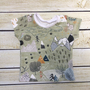 Max's Map Organic Shirt - Little Green Bird