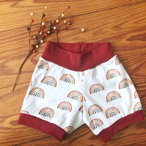 Scattered Rainbows Organic Knit Shorts