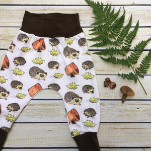 Hedgehog Fun Organic Knit Joggers - Little Green Bird