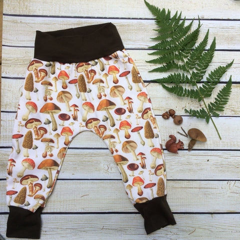 Mushroom Organic Knit Joggers - Little Green Bird