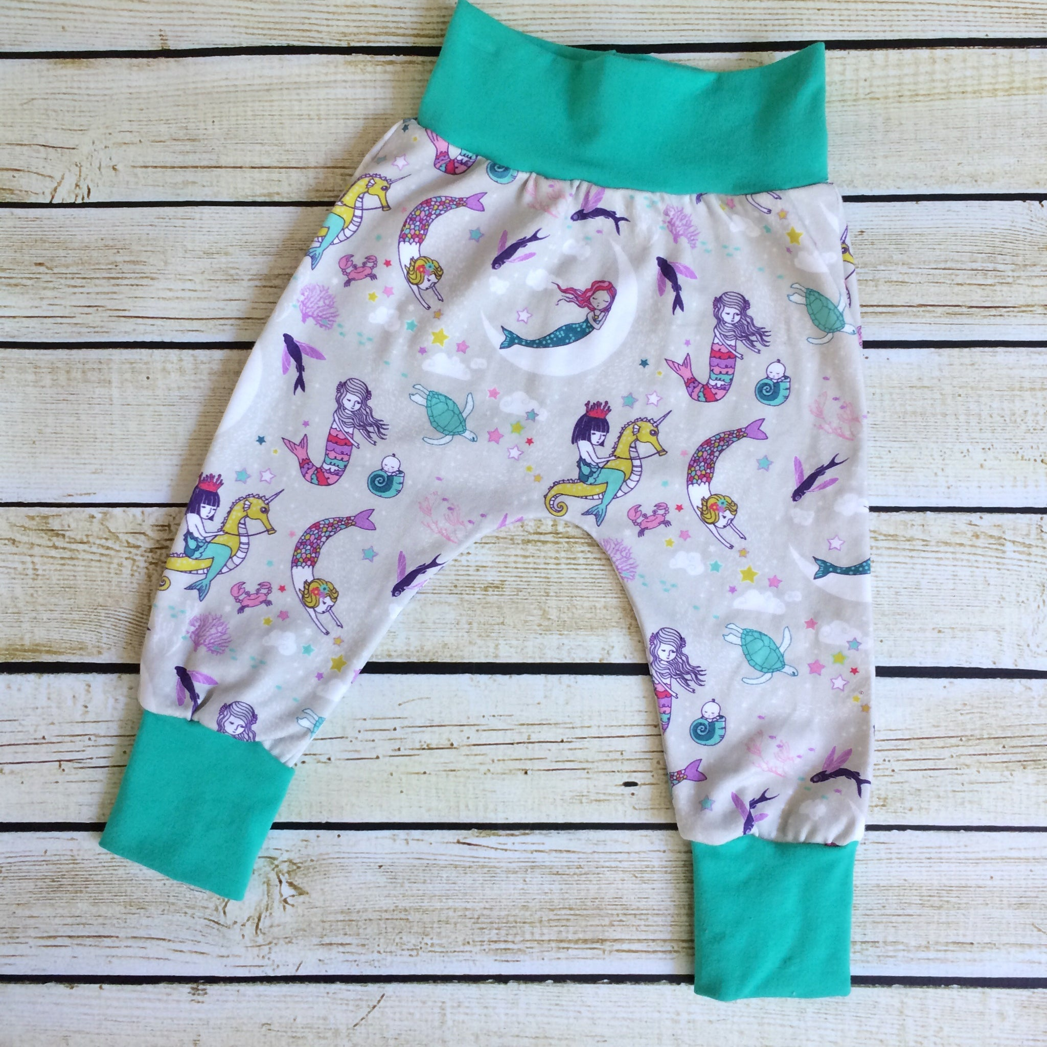 Mermaid Lullaby Organic Knit Pants - Little Green Bird