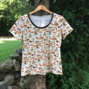 Mushrooms Organic Shirt For Adults - Little Green Bird