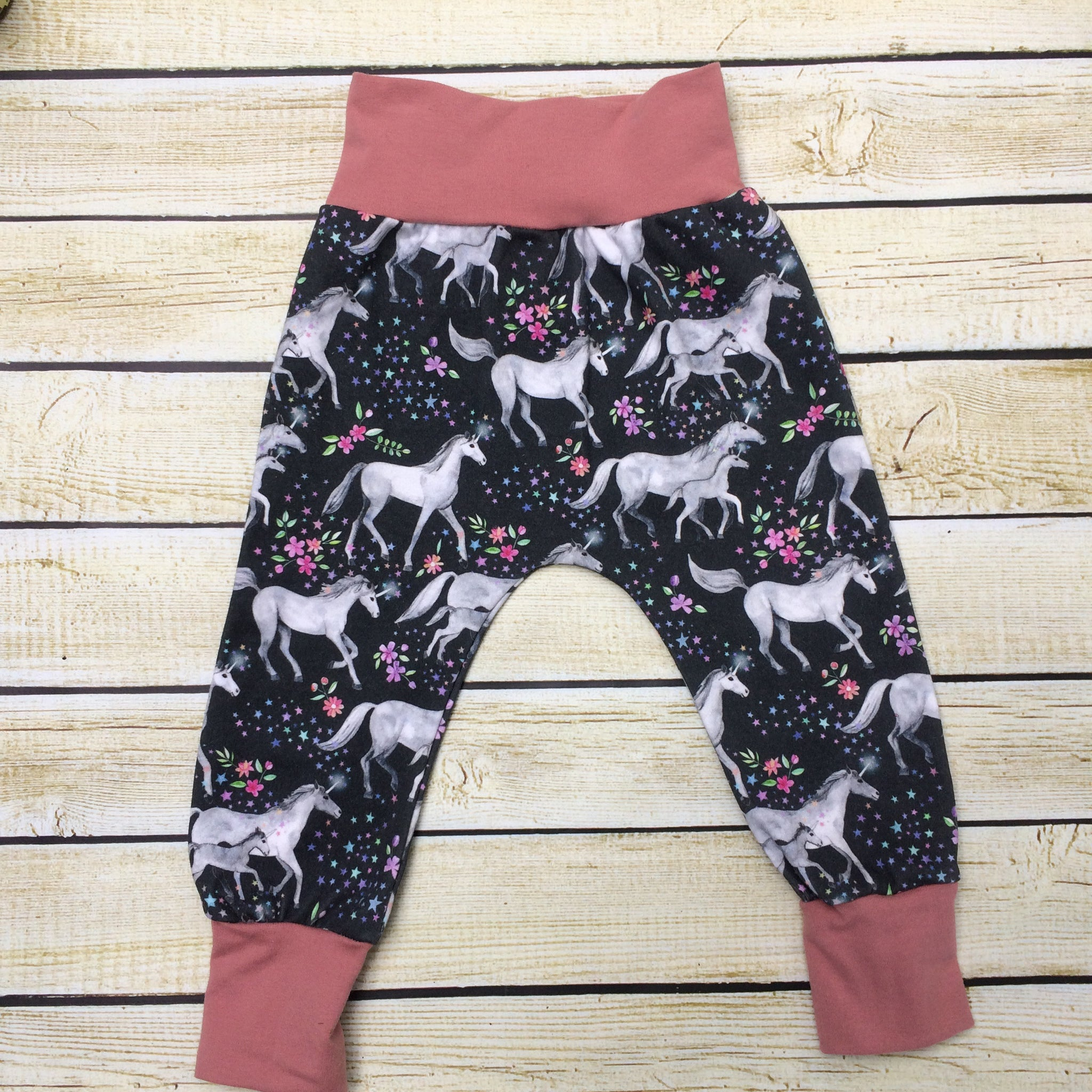 Unicorn Family Organic Knit Pants - Little Green Bird