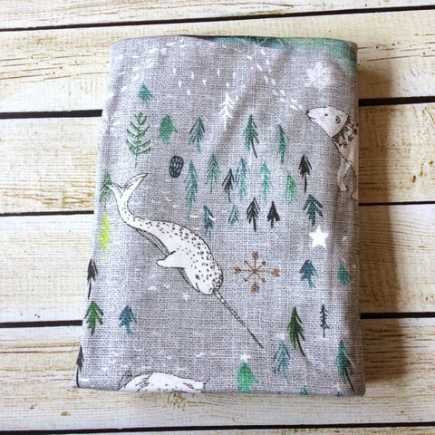 Arctic Song Organic Swaddle Blanket - Little Green Bird