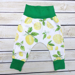 Lemon Love Organic Knit Joggers - Little Green Bird
