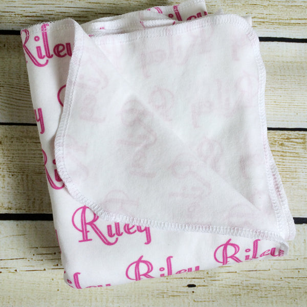 Personalized Name Organic Swaddle Blanket - Little Green Bird