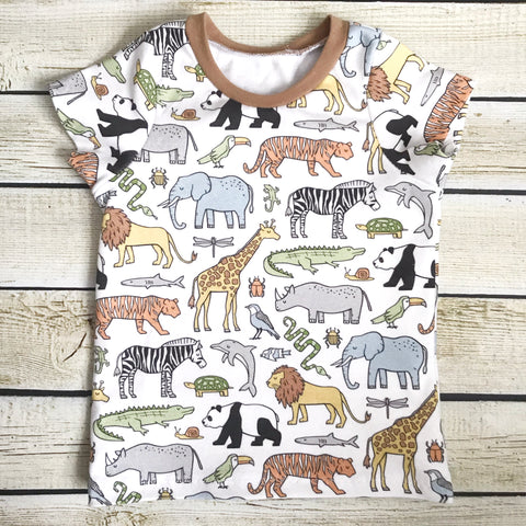 Zoo Animals on Parade Organic Shirt