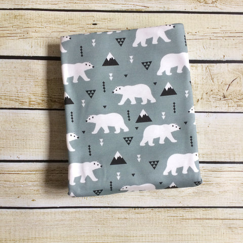 Polar Bear Parade Organic Swaddle Blanket - Little Green Bird