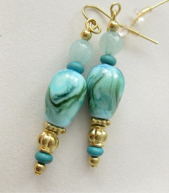 Atlantic Ocean Mist earrings