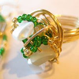 Green & Gold Series: Beaded Ring