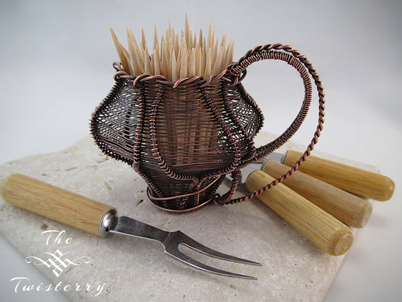 Miniature Wire Wrapped Basket