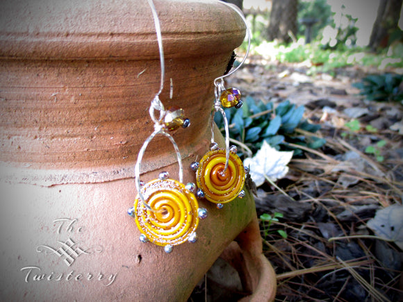Cinnamon Spice Tango earrings