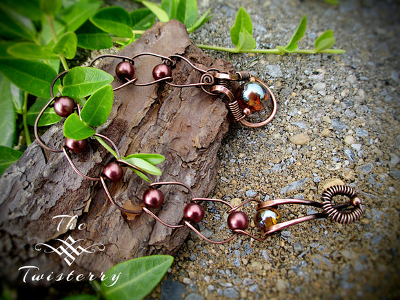 Copper Pearls & Horseshoes