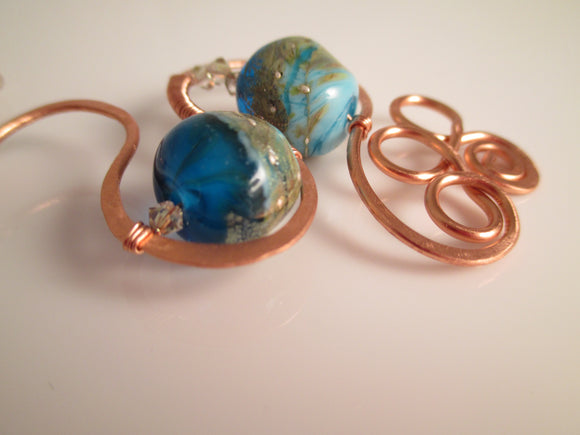 Copper Swirls necklace