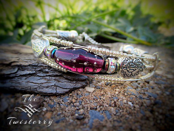 Crown Jewel series: Plum bracelet