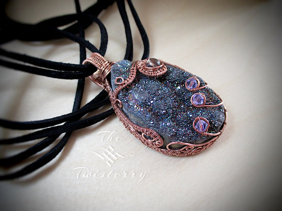 Wire Wrapped Druzy Pendant