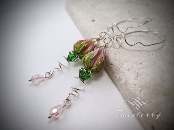 Faerie Blush earrings