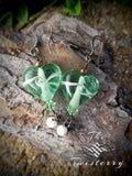 Mint Glass Heart earrings
