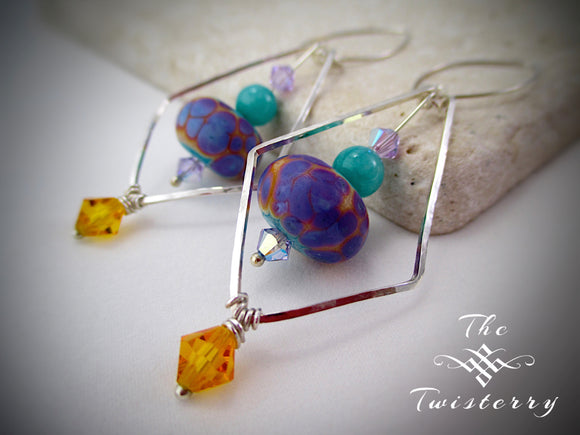 Psychedelic Jester Earrings
