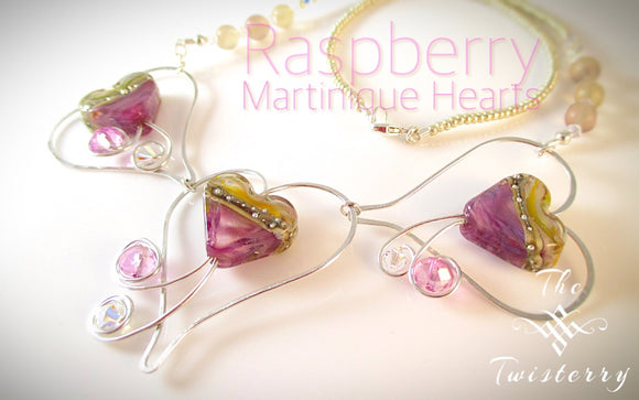 Raspberry Martinique Hearts