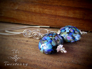 Silvered Hydrangea earrings