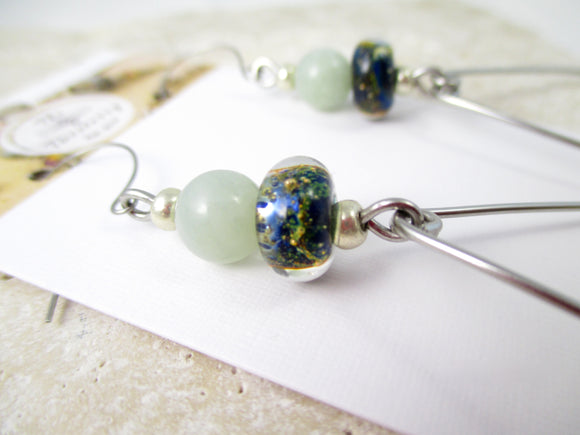 Stainless Steel Ocean Drop earrings