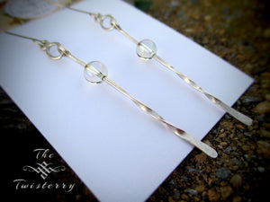 Sterling Rain Sticks earrings
