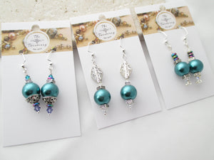 Teal Pearl Baubles earrings III