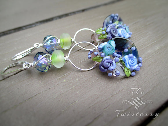 Wild Indigo Faerie earrings