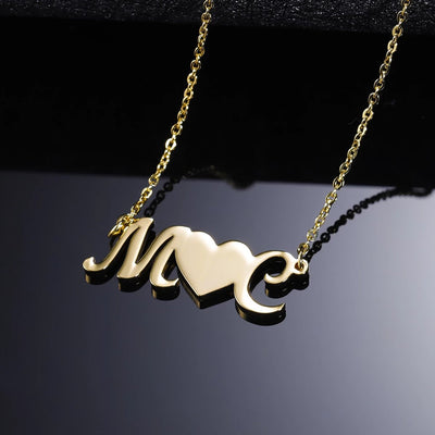 Double Letter Necklace | Dorado Fashion