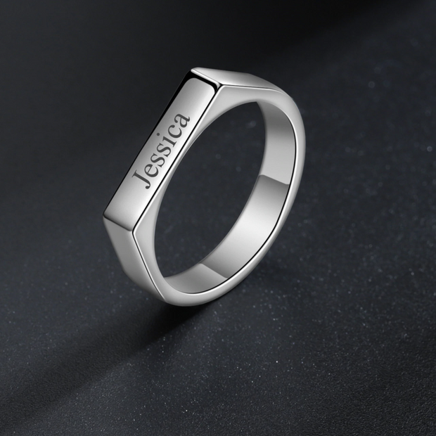 Engraved Name Ring | Dorado Fashion