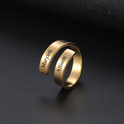 Double Engraved Name Ring | Dorado Fashion