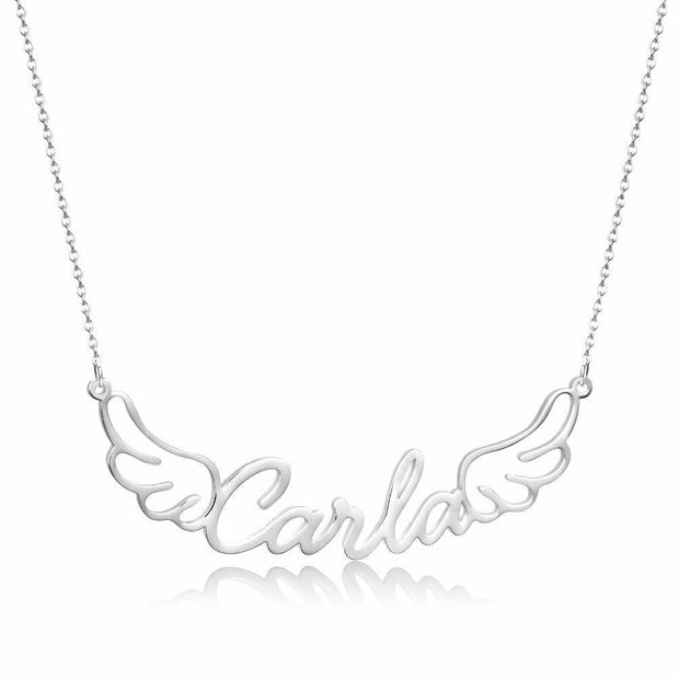 Angel Wing Name Necklace | Dorado Fashion