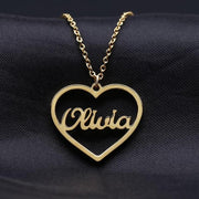 Heart Name Necklace | Dorado Fashion