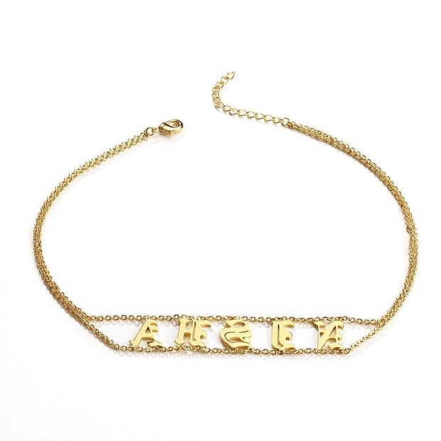 Old English Name Choker | Dorado Fashion