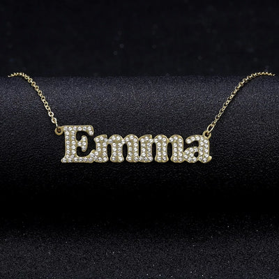 Bold Iced Out Name Necklace | Dorado Fashion