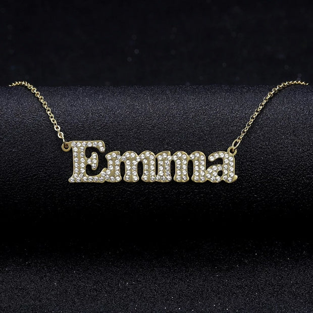 Bold Iced Name Necklace | Dorado Fashion