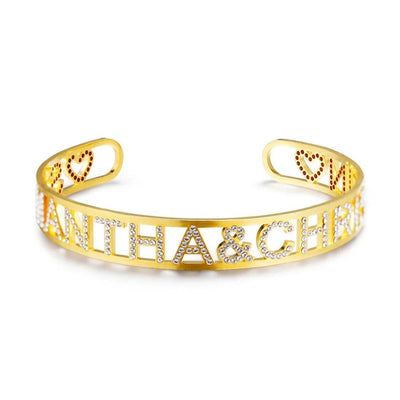 Iced Out Name Bangle | Dorado Fashion