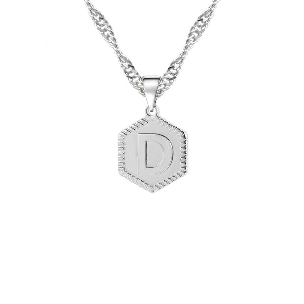 Hex Initial Necklace | Dorado Fashion