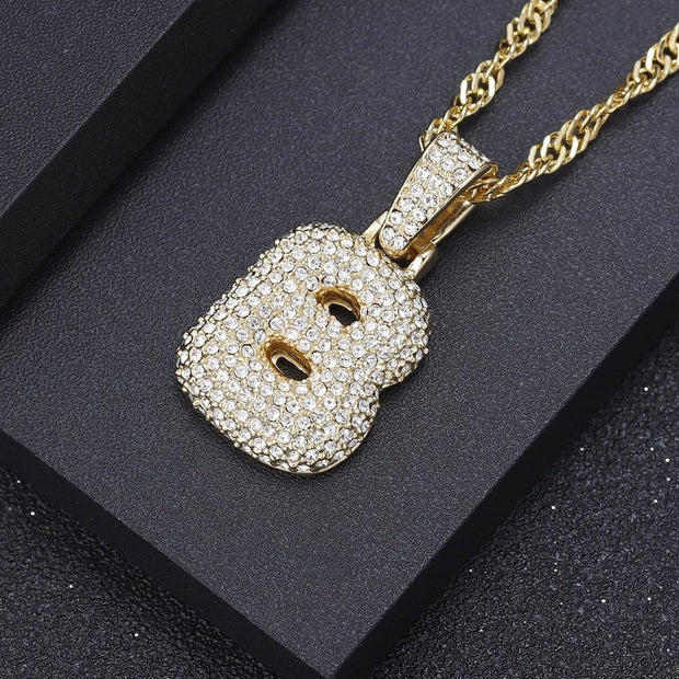 Iced Out Bubble Letter Necklace | Dorado Fashion