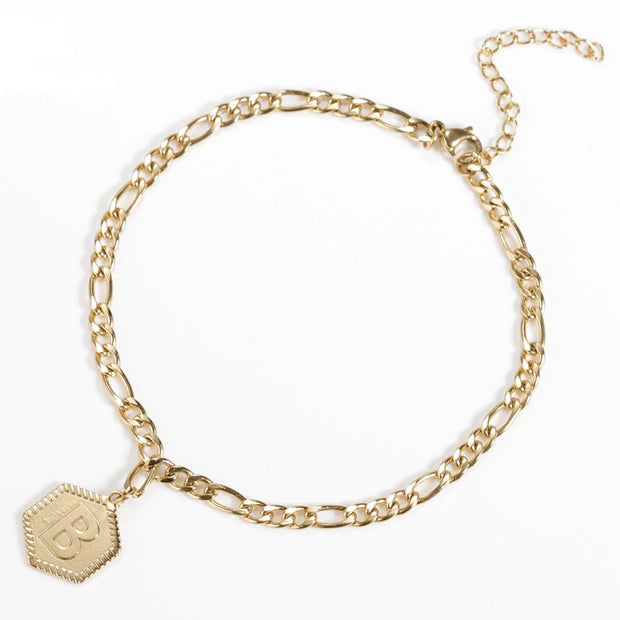 Hex Initial Bracelet | Dorado Fashion