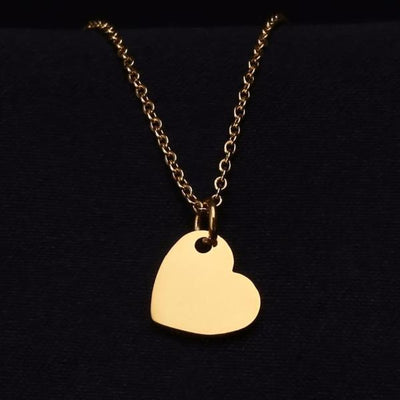 Engraved Heart Necklace | Dorado Fashion