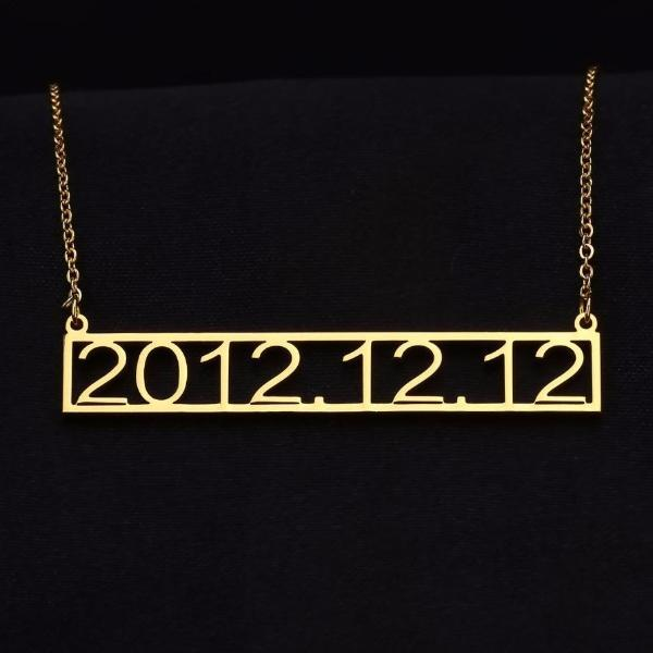 Custom Date Necklace | Dorado Fashion